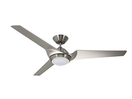 (Emerson CF275BS 60-inch Modern Sweep Eco Ceiling Fan, 3-Blade Ceiling Fan with LED Lighting and 6-Speed Wall Control)