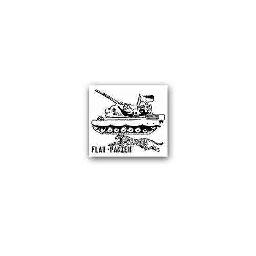 (Flak tank Gepard Anti aircraft gun tanker FlakPz steel Army Military German soldier military badge emblem for Audi A3 BMW VW Golf GTI Mercedes (8x7cm) - Sticker Wall Decoration)