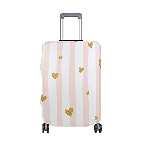 Stripe Love Luggage Cover Suitcase Protector Washable Spandex Baggage Cover with Zipper for Travel, Business and Outdoor by Yomole