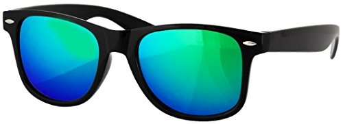 Lentes Reflective Black Green de Retro Classic 5840 Vintage dos tonos de sol frame UV400 Wayfarer Gafas New Unisex Lens Espejo nSxwTq8C6F