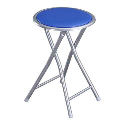 - MCLY Shower Seats, PU Leather Stool Portable Folding Round Shower Stool (2 Pack) / Elderly/Disabled/Pregnant Women/Home Simple Stool (Color : Blue)
