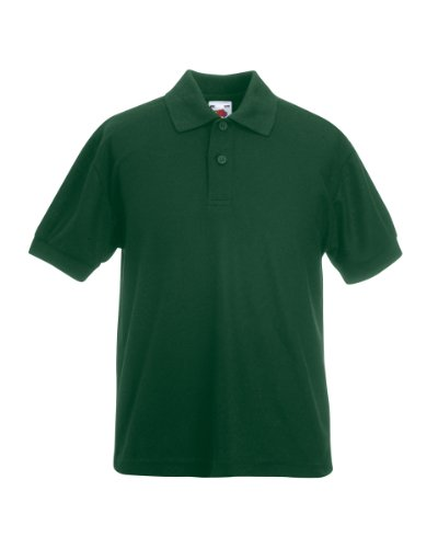 Fruit of the LoomMädchen Poloshirt Grün Bottle Green