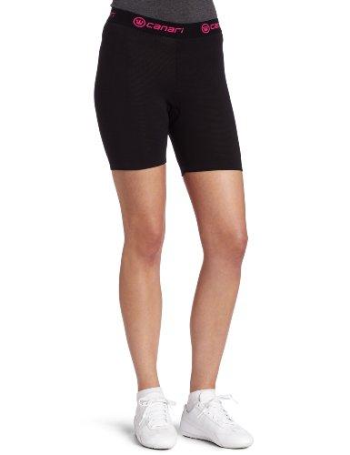 Canari Cyclewear Women's Gel Cycle Liner Padded Cycling Brief (Black, Medium)