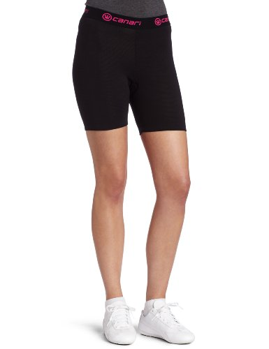 Canari Cyclewear Women's Gel Cycle Liner Padded Cycling Brief (Black, Medium)
