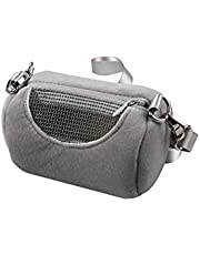 ZARSIO Hamster Carrier Bag Portable Breathable Guinea Pig Outgoing Bag Small Pet Carrier Bag for Hamster, Hedgehog, Squirrel (Gray)