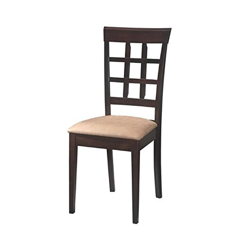 Bowery Hill Wheat Back Dining Chair with Fabric Seat in Cappucino