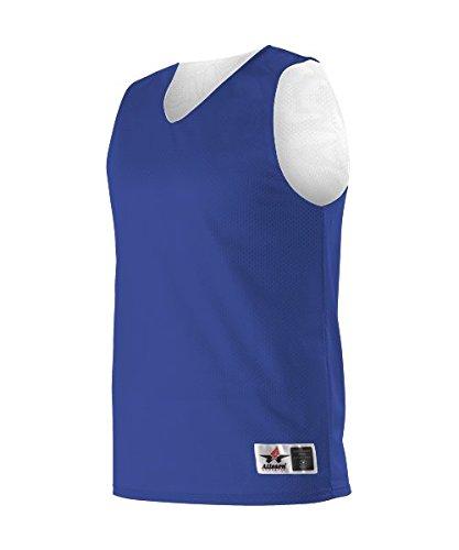 Alleson Athletic Adult Reversible Mesh Tank Royal Blue / White 3XL