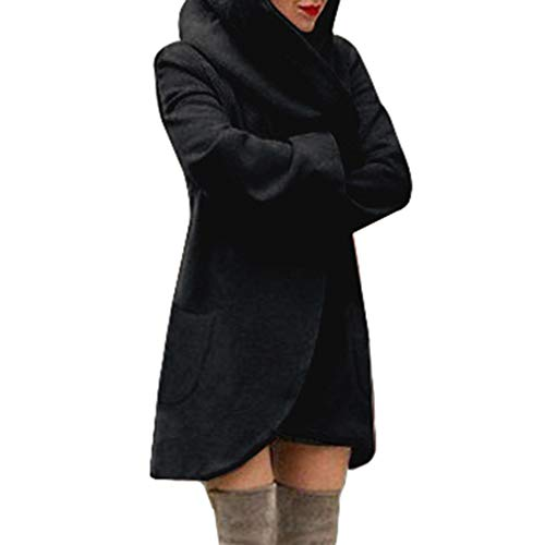 Juqilu Femme Manteaux  Capuche Longue Sweatshirt Gilet Hiver Hoodie Veste Jacket Casual Outwear Zipper Loose Coat Grande Taille Automne Hiver S-5XL 3#