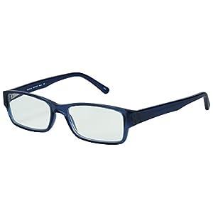 SightLine 7002 Multifocal Computer Reading Glasses. Full-Rim Designer Frame With Progressive Magnification Anti-Glare Coated Lenses (3.00, Navy)