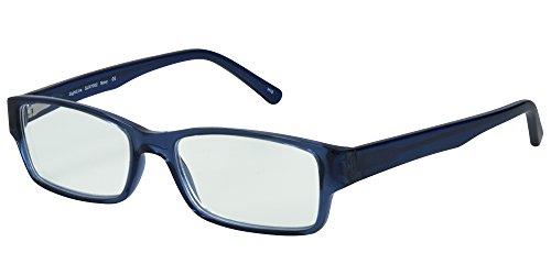 SightLine 7002 Multifocal Computer Reading Glasses. Full-Rim Designer Frame With Progressive Magnification Anti-Glare Coated Lenses (3.00, - Non Line Glasses Prescription Bifocal Reading No