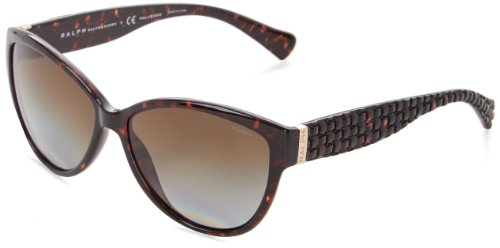 Ralph Lauren womens 0RA5176 502/T558 Polarized Cat-Eye Sunglasses,Tortoise,58 mm