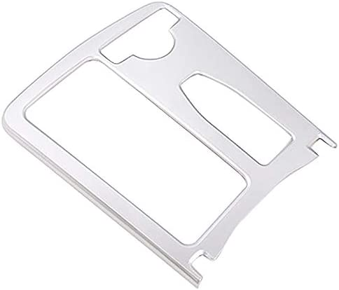 Moligh doll Car Silver ABS Central Console Cup Holder Frame Trim Cover Right Drive for Mercedes E Class C Class W204