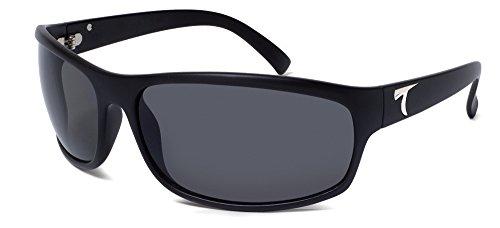 Typhoon Men's Harbor Polarized Sunglasses,Matte Black Frame/Gray Lens,one - Sunglasses Polarized Typhoon