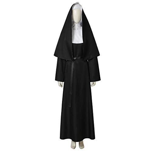 (CosplayDiy Women's Suit for The Nun Valak Black Valak Demon Nun Virgin Cosplay Costume)