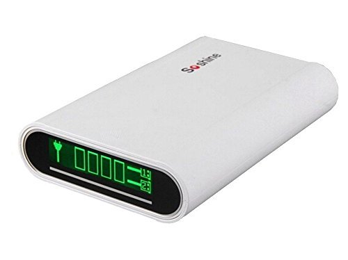 Soshine® 10400mAh Dual USB Charing Port Smart Power Bank for 4X 18650 External Batteries, with Large LCD Display (YM-E3-4)