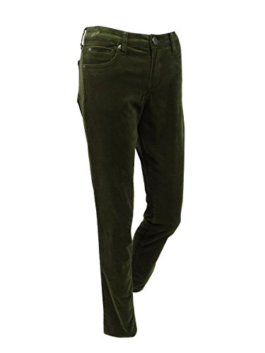 (KUT from the Kloth Womens Catherine Solid Cuffed Corduroy Pants Green 2)