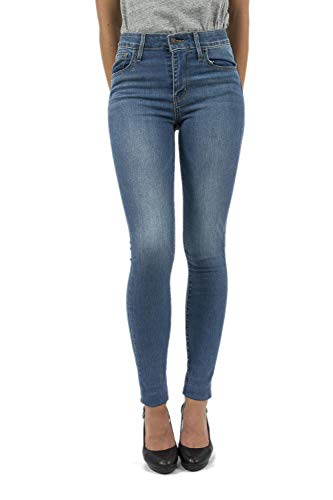 27/34 Jeans Levis 721 High Rise Skinny Bleu