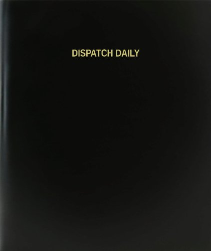 BookFactory® Dispatch Daily Log Book / Journal / Logbook - 120 Page, 8.5