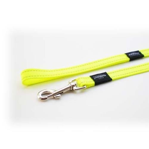Rogz Utility Snake Dayglo Yellow dog leash 4,7 ft Medium