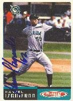 Hansel Izquierdo Kane County Cougars - Marlins Affilliate 2002 Topps Total Autographed Card - Minor League Card. This item comes with a certificate of authenticity from Autograph-Sports. Autographed