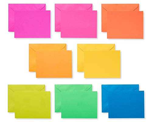 American Greetings Neon Rainbow Single Panel Blank Cards and Colored Envelopes, 100-Count ()