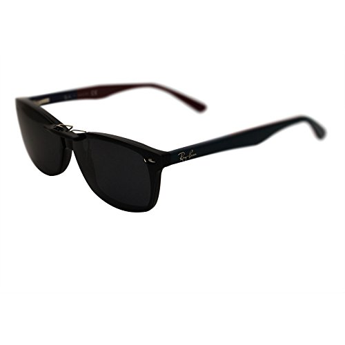 oGeee Custom Polarized Clip On Sunglasses for RAY-BAN RB5228 (55mm) 55-17-140 (Black) by oGeee (Image #4)