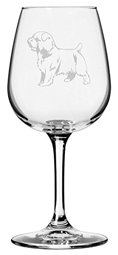 Norfolk Terrier Dog Themed Etched 12.75oz Libbey Wine Glass