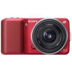 Sony A Nex 3A - Cámara Digital - Sistema Sin Espejo - 14.2 Mpix - Lente Sony De 16 Mm - Memoria Soportada: Ms Duo, Sd, Ms Pro Duo, Sdxc, Ms Pro-Hg Duo Hx, Sdhc, Ms Pro-Hg Duo - Rojo