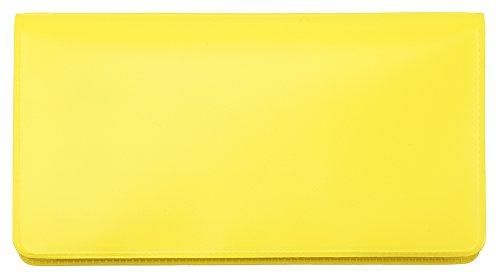 Lemon Yellow Vinyl Checkbook Cover