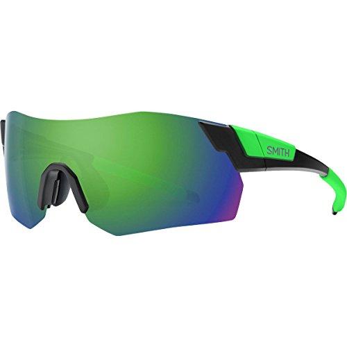Smith Pivlock Arena Max ChromaPop Sunglasses Matte Black Reactor/Green, One Size - - Sunglasses Max D Smith