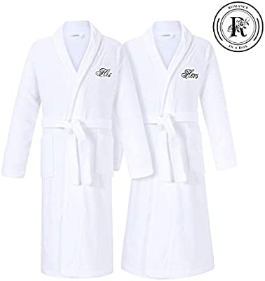 Amazon.com  Romance Helpers His and Hers Terry Cotton Bath Spa Robes Gift  Set  Home   Kitchen 7cf28e96d