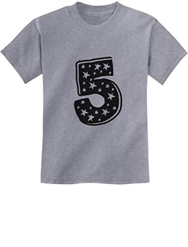 TeeStars - Five Years Old Birthday Gift Idea - I'm 5 Superstar Kids T-Shirt Medium Gray ()