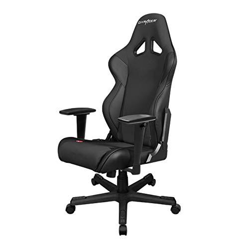 DXRacer Racing Series RW106Racing Style Bucket Seat Ergonomic Executive Office Gaming Chair Computer Esports Desk Chair Lumbar Support Pillows (Black/Black) DXRACER
