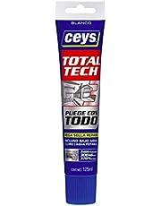 Ceys M112426 - Adhesivo sellador ms-tech blanco 125ml