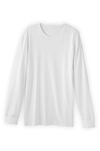 Organic Long Tee Extra Sleeve (Fair Indigo Fair Trade Organic Men's Long Sleeve Crew Neck T-Shirt (XL, White))