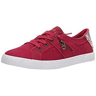 Blowfish Malibu Women's Fashion Casual Sneaker, Jester Red Smoked Canvas, 9