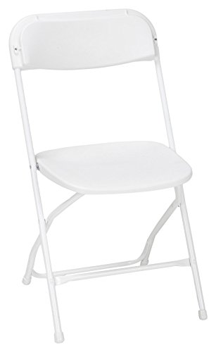 (ZOWN Premium Commercial Banquet Folding Chair, White, 8 Pack)