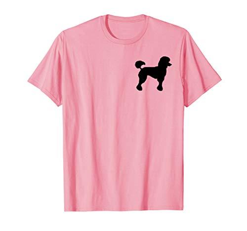Poodle Skirt T Shirt Costume Retro 50's Look Black Poodle]()