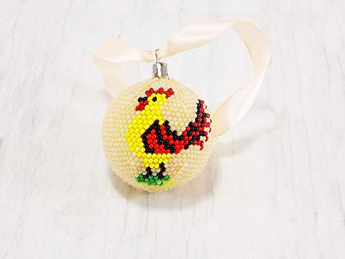 - Handmade Wall hanging Rooster ornament Easter decor for tree decor Spring Hen decorations for kitchen