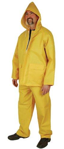 Heavy Duty 2-Piece Rain Suit (2X-Large) (PVC Coated Polyester) ()