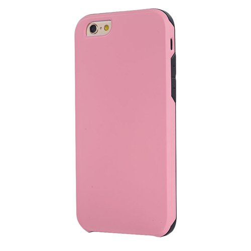 E8Q superior de lujo a prueba de golpes de goma del caso del metal de de la armadura la caja protectora para iPhone 6 Plus 5.5 Rosado