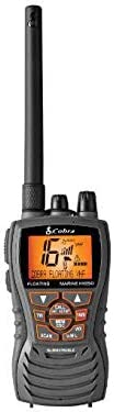 6 Wt Submersible Handheld Floating VHF Radio with Noise Cancelling Mic, LCD Display, Memory Scan [Cobra] Picture