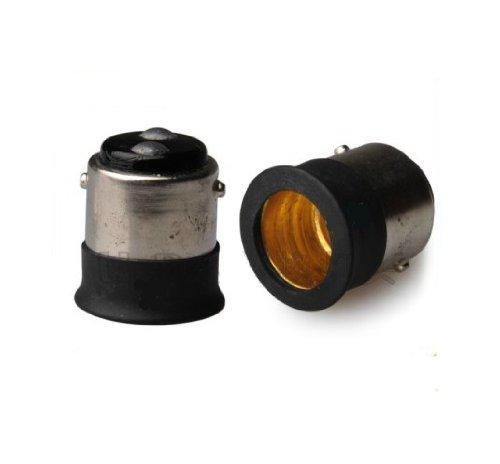 SmartDealsPro 12 Pack/lot Black BA15D to E12 Bulb Convert...