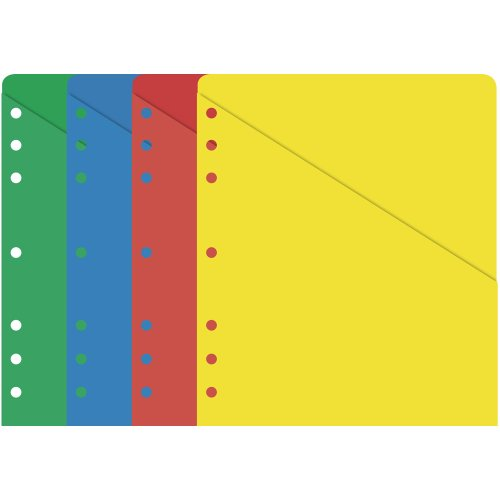 Day-Timer Folio Size ColorLife Slash Pockets, 8.5 x 11 Inches (87498)