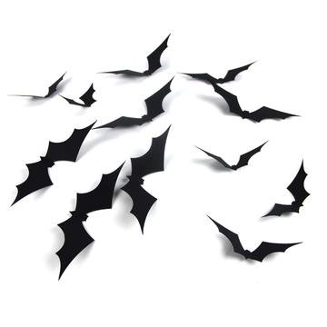 PAPERJAZZ Spooky Spiders Web Bats Wall Stickers Window Decals for Halloween Party Background Decorations (BAT)]()