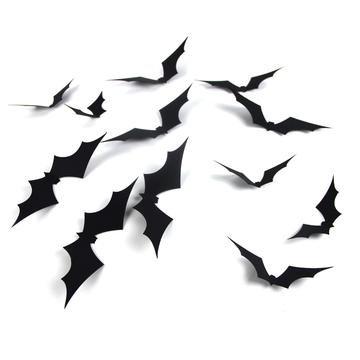 PAPERJAZZ Spooky Spiders Web Bats Wall Stickers Window