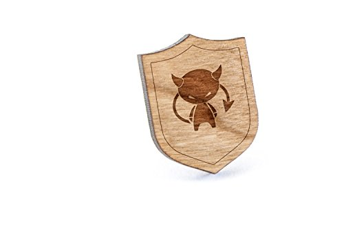 Devil Lapel Pin, Wooden Pin