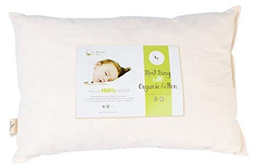 DorDor & GorGor Toddler Pillow, Organic Cotton, Ivory, 13x18