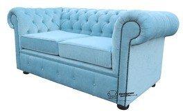 Designer Sofas4u Chesterfield 2 plazas sofás Velluto Huevo ...