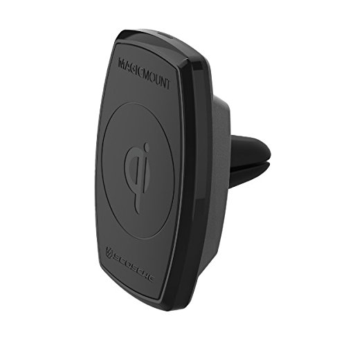 SCOSCHE MQ2V MagicMount Charge 10W Magnetic Qi-Certified Smartphone Vent Car Mount Holder ()